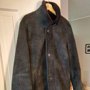 Frank Stella Black Shearling Coat